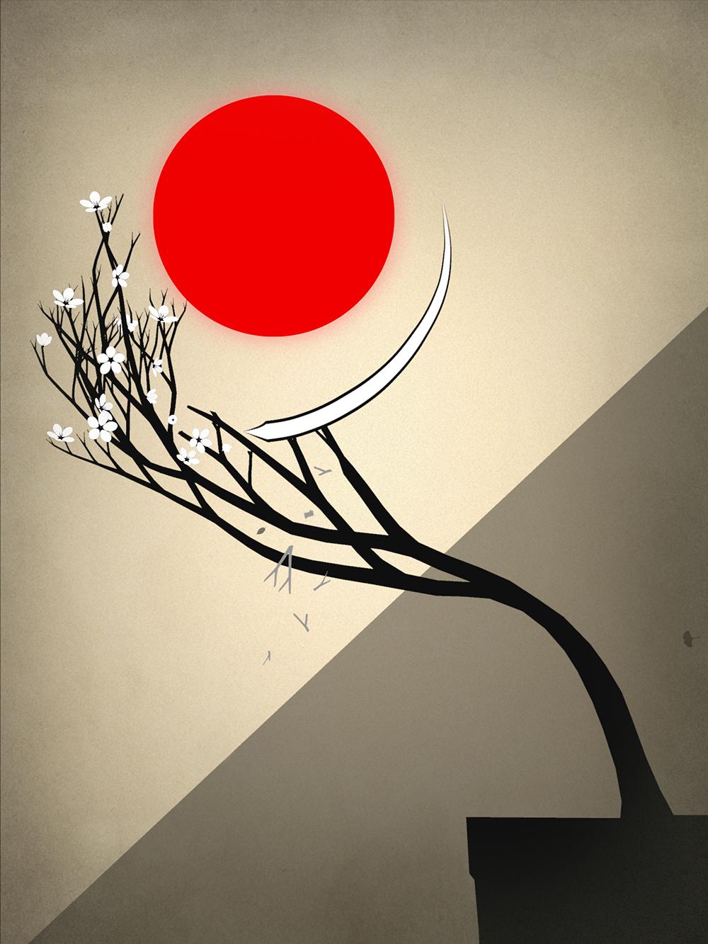 Screenshot: Mit einer wischenden Bewegung werden die Äste getrimmt, da sie in ein Hindernbis wachsen.