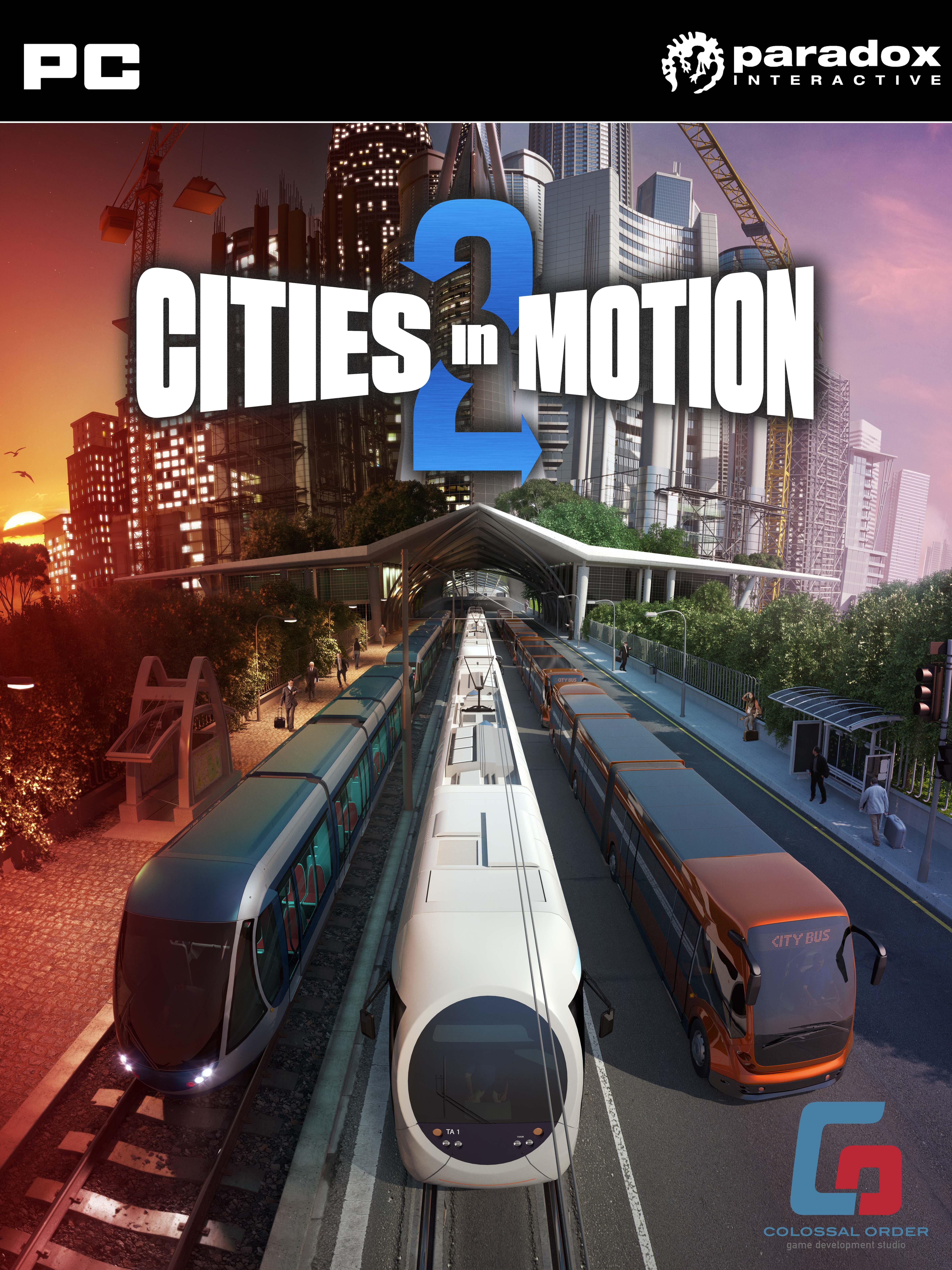 Cover des Spieles mit Zug, Straßenbahn und Bus