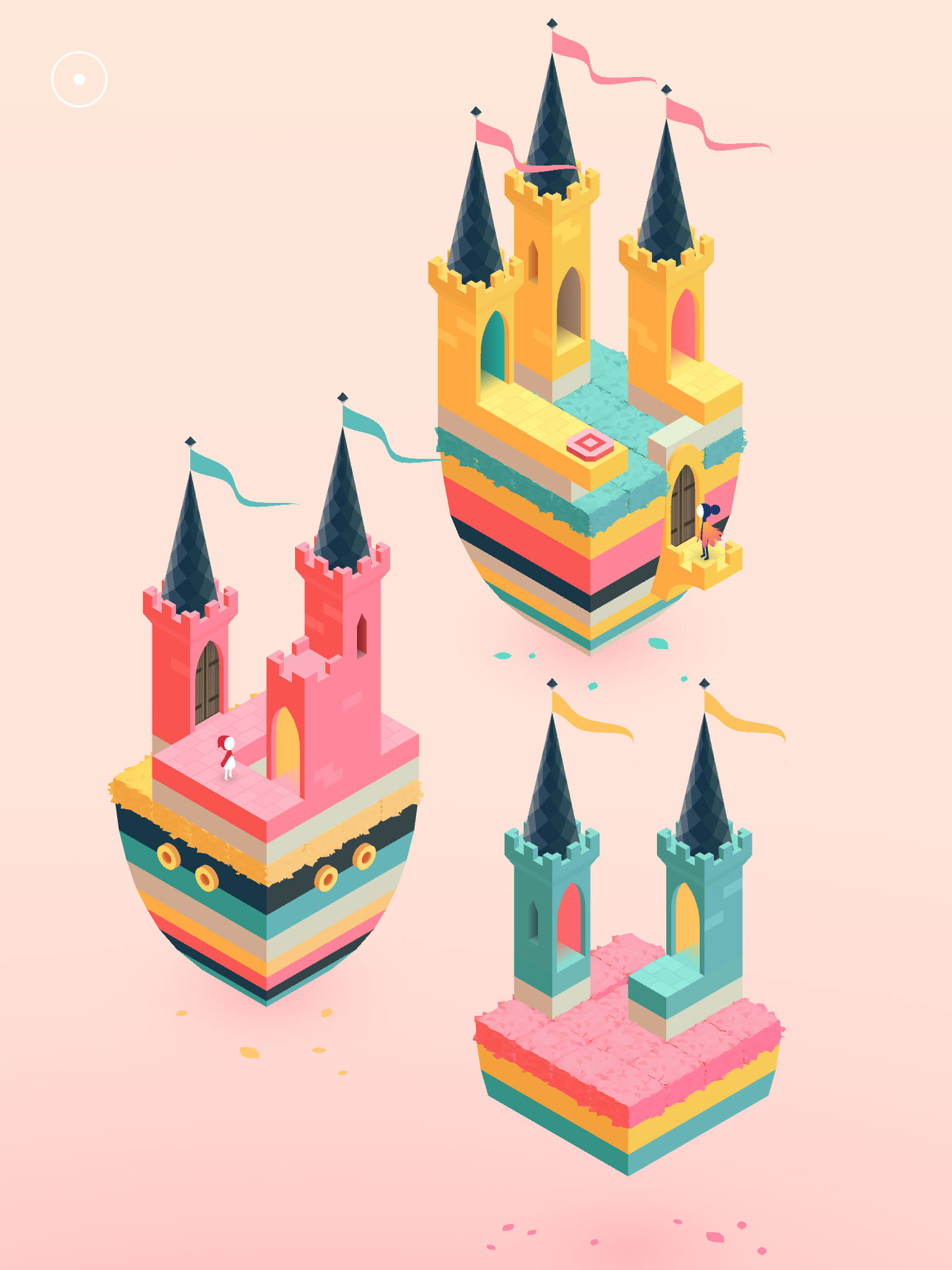 drei farbige Luftschlösser