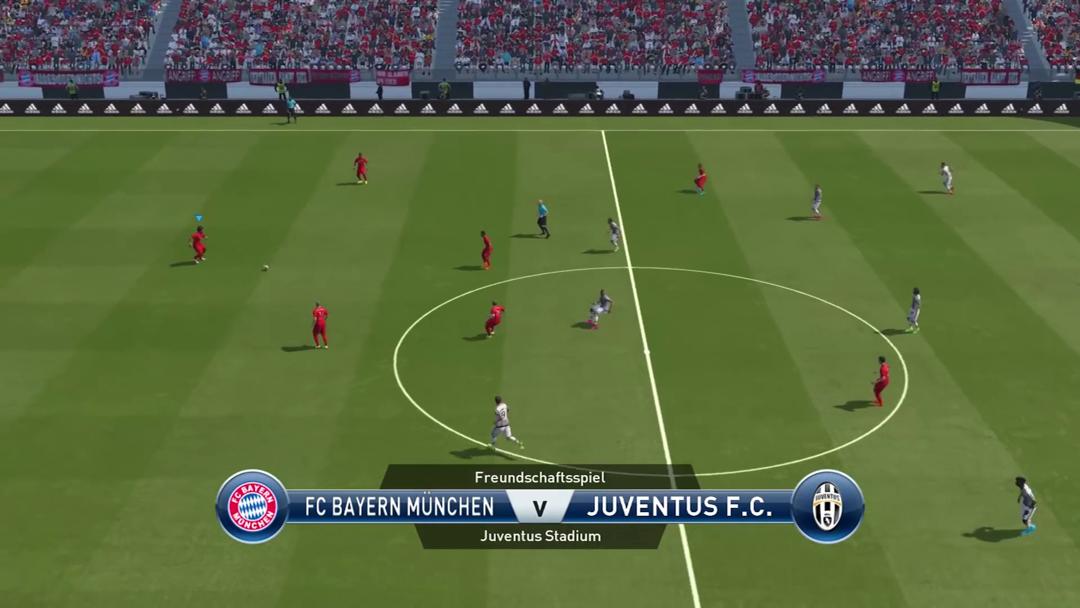 Screenshot: zeigt das Spielfeld gleich nach dem Anstoß.