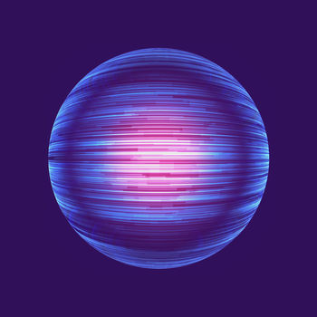 Der Frost Heimatplanet mit blauen Partikelstrahlen