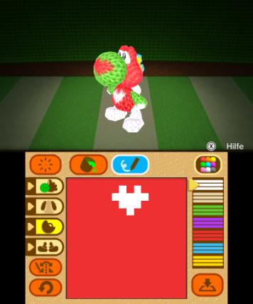 Screenshot: Yoshi im Designemodus.