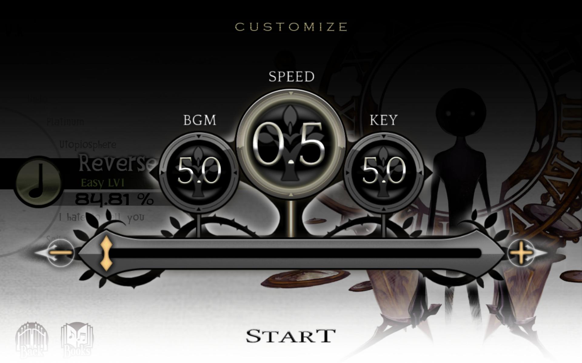 Screenshot: Ein Menü mit Einstellungsmöglichkeiten vor einem farblosen Hintergrund.