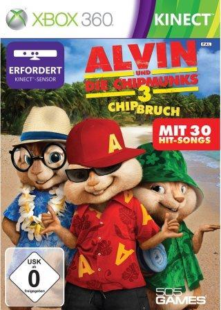 Das Coverbild zeigt die Chipmunks in Urlaubskleidung am Strand.