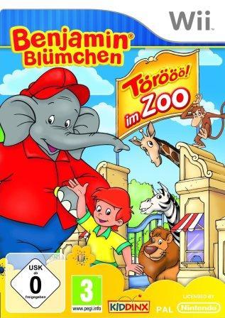 Der Cover zeigt Benjamin Blümchen und seine Freund/-innen.