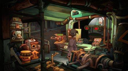 Der Spielheld steht in einem Labor.