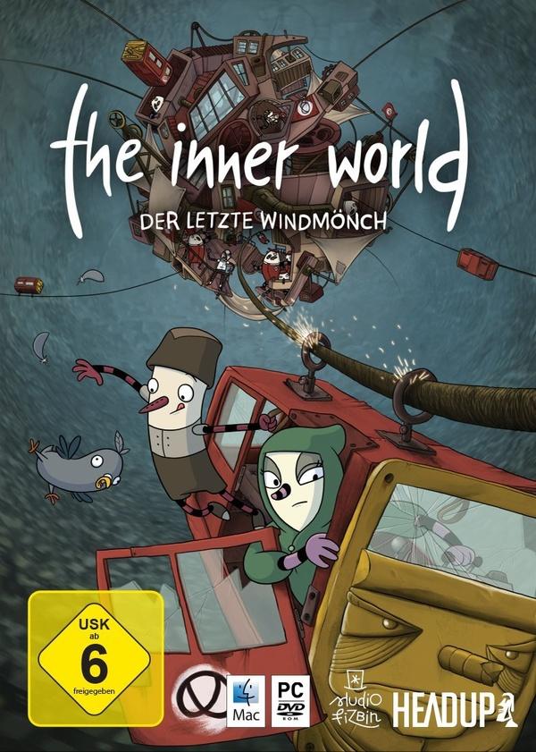 Cover: Ein paar Comicfiguren in einer Seilbahn, darüber der Titel des Spiels.
