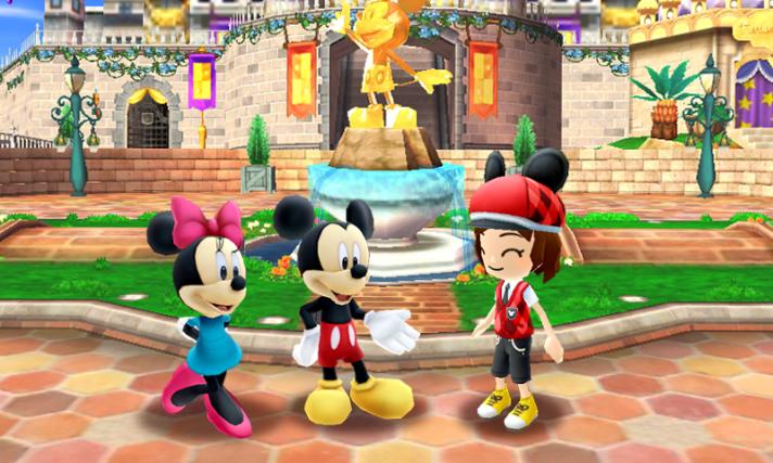 ein Avatar trifft auf Mickey und Minnie Mouse