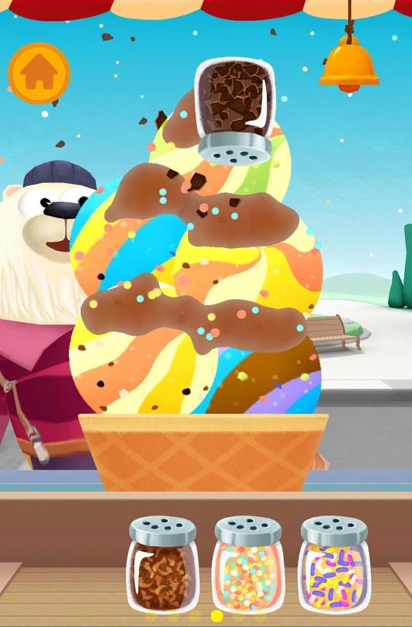 Screenshot: Eisbecher mit Streusel.