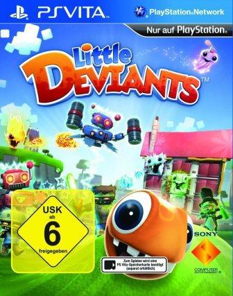 Bunte Spielfiguren rollen durch eine Spiellandschaft.