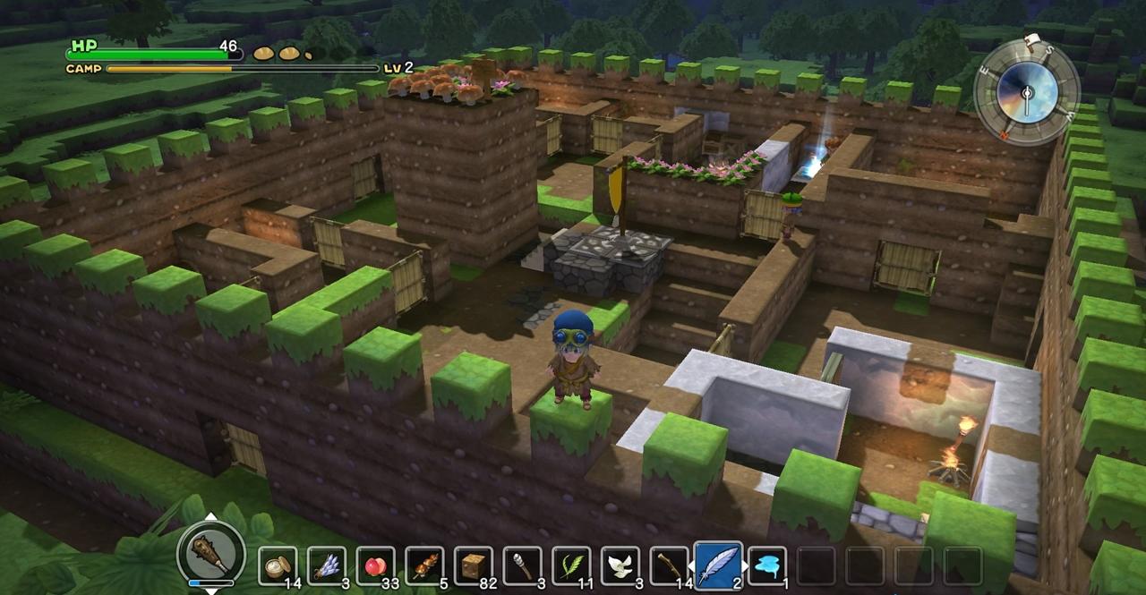Screenshot: Spielcharakter steht auf den Mauern seiner Stadt