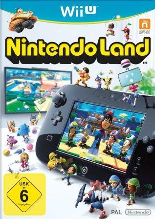 Spielfiguren in, auf und vor der WiiU.