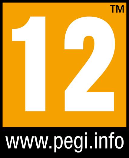 Symbol PEGI Altersfreigabe ab 12 Jahren