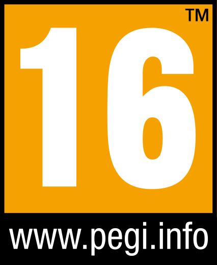 Symbol PEGI Altersfreigabe ab 16 Jahren