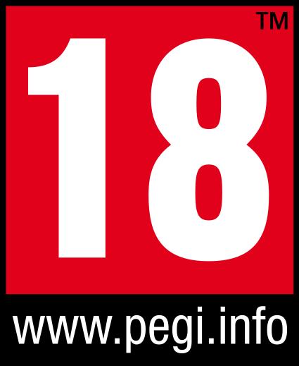 Symbol PEGI Altersfreigabe ab 18 Jahren