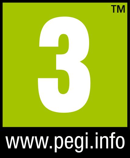 Symbol PEGI Altersfreigabe ab 3 Jahren