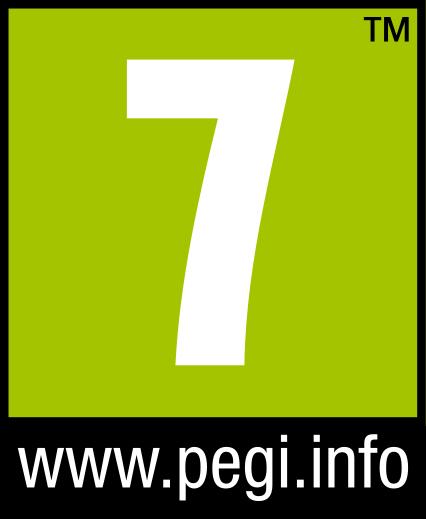 Symbol PEGI Altersfreigabe ab 7 Jahren