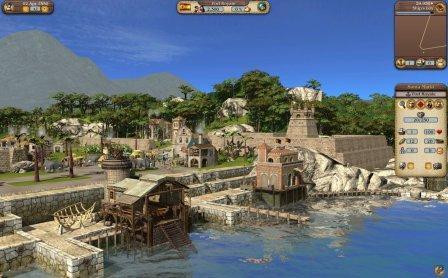 Eine Hafenstadt im Aufbau.