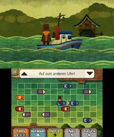 Schiffchen Rätsel: von Boot zu Boot springen