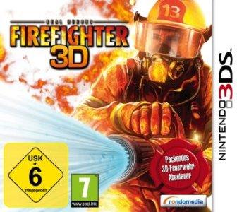 Ein Feuerwehrmann mit einem Löschschlauch.