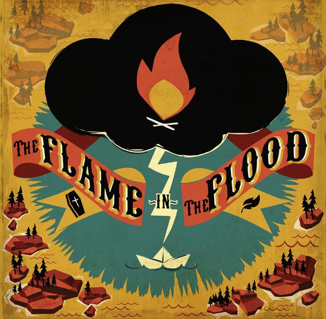 Das Cover zeigt eine Gewitterwolke über einem Fluss und dem Schriftzug des Spiels