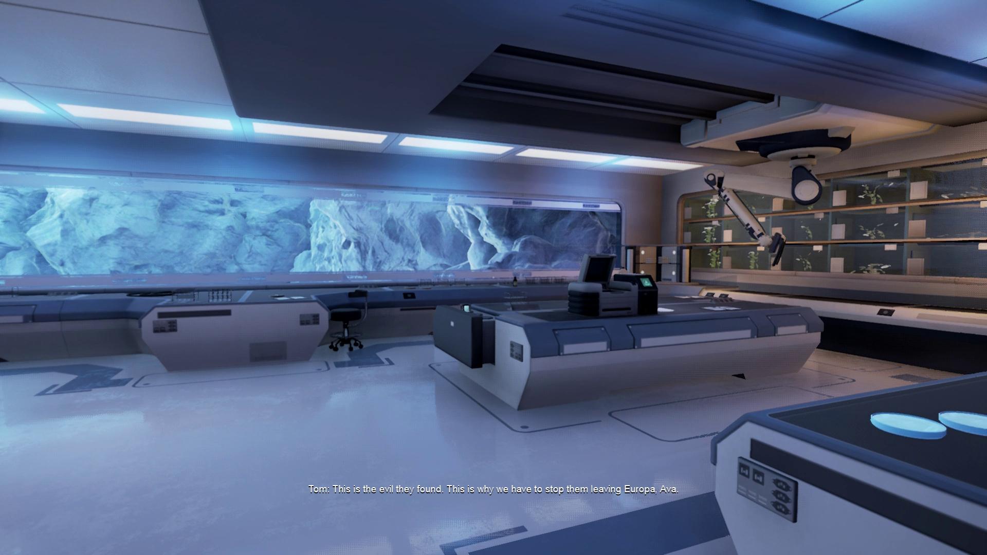 Screenshot: Forschungsstation auf dem Saturnmond Europa