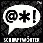 PEGI Symbol Schimpfwörter: Sprechblase mit angedeuteten Schimpfwörtern