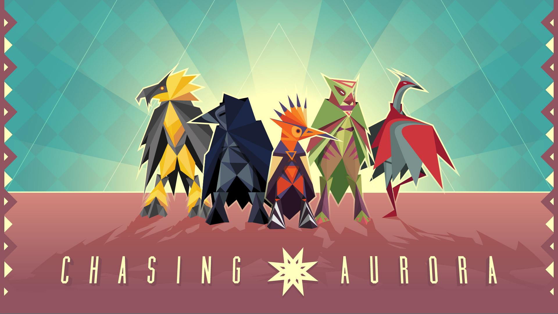 5 bunte Vögel im Origami - Stil abgebildet