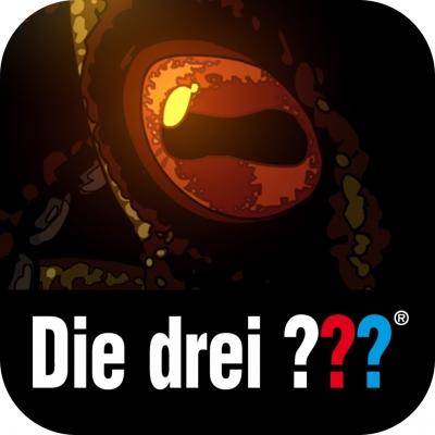 cover: Ein riesieges Auge, darunter der Schriftzug die drei Fragezeichen.