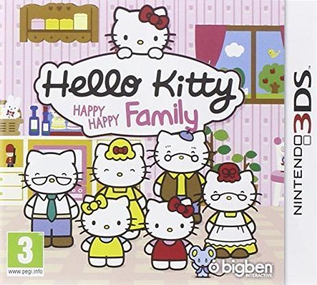 Hello Kitty Familie mit Kindern, Eltern und Großeltern