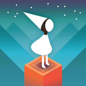 Logo des Spiels mit Spielfigur, eine weiße Prinzessin, die auf einem Block steht.