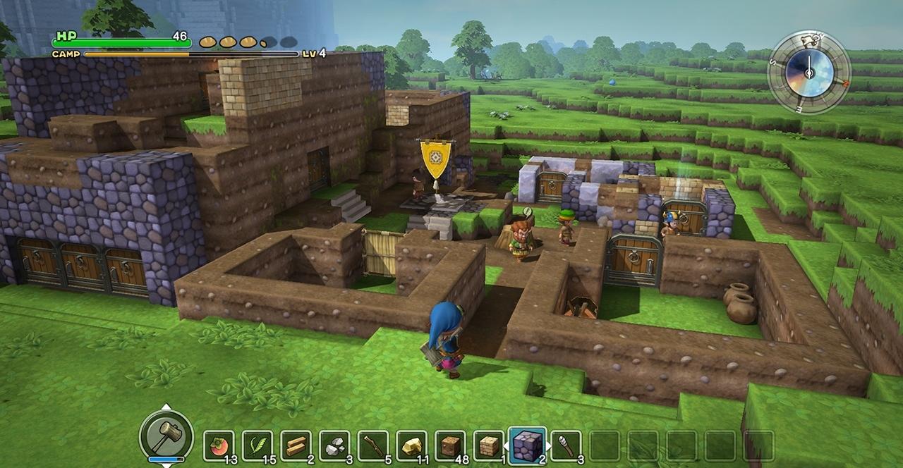 Screenshot: Spielcharakter steht vor einer Stadt