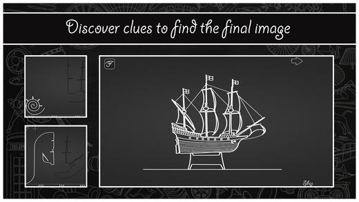 Hilfssymbole deuten auf das gesuchte Motiv hin, so sind Segel mit einem Schiff zu verbinden.