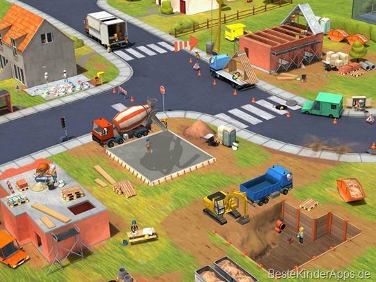 Übersicht über die Baustellen