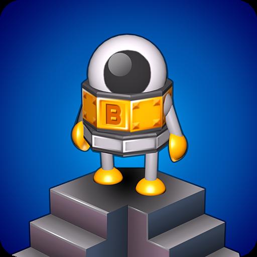 Cover: Ein einäugiger Roboter steht auf einer Treppe.