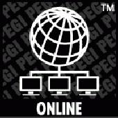 PEGI Symbol Online: Weltkugel mit 3 verbundenen Rechnern