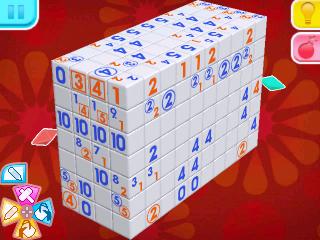 Screenshot: ein großer Block aus einzelnen Würfeln mit Zahlen dara