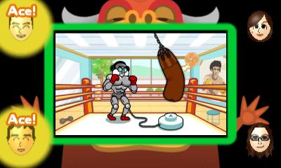 Screenshot: ein Roboter boxt auf einen Boxsack