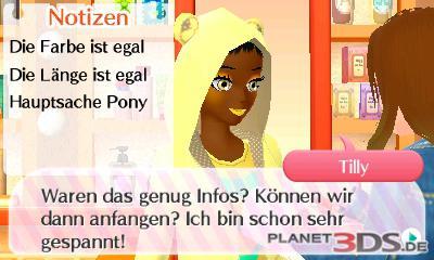 Screenshot: Eine Kundin möchte eine neue Frisur und äußert ihre Wünsche.
