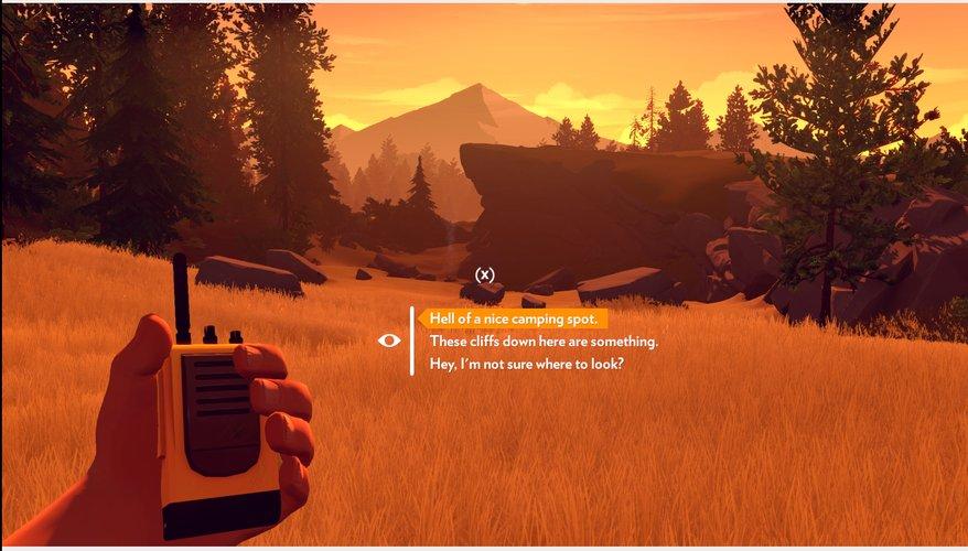 Screenshot: Spielfigur hält ein Funkgerät in der Hand und unterhält sich mit Vorgesetzten. Dabei kann man zwischen drei Antwortmöglichkeiten auswählen.