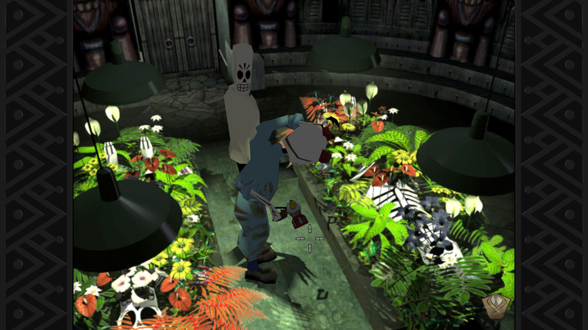 Zwei Skelette beim Leichenbeschauer,
