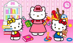 Kitty, mimmy und Mama beim Aufräumen