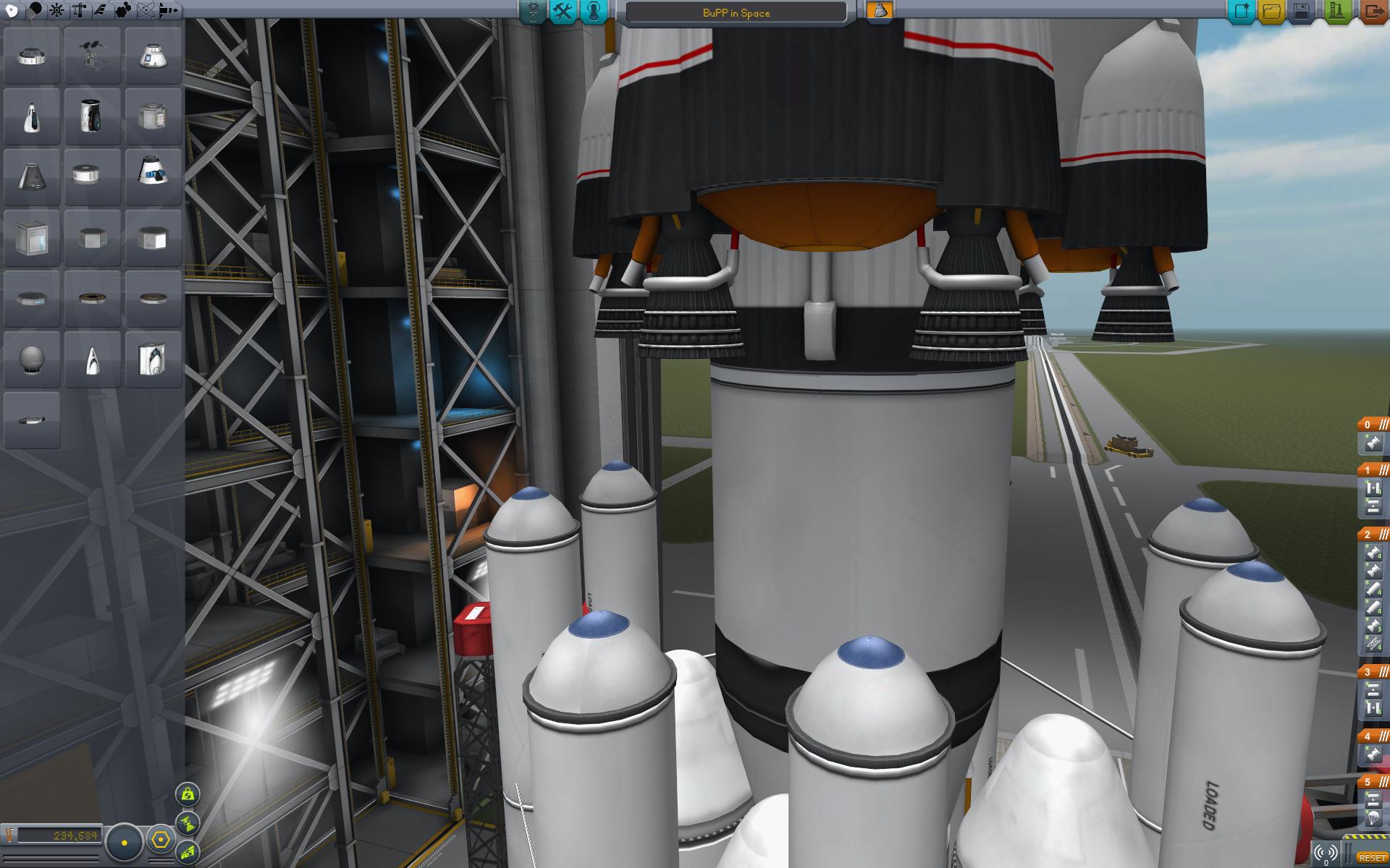 Konstruktion einer Rakete.