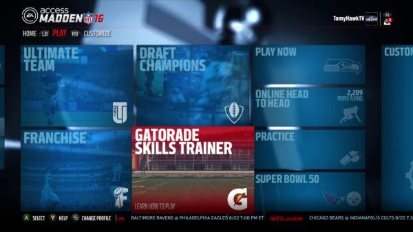 Screenshot: zeigt das Spielmenü mit den verschiedenen Spielmodi.