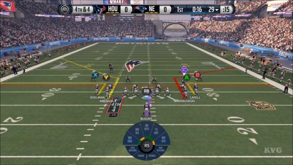 Screenshot: zeigt die Darstellung der Laufwege vor dem Beginn des Spielzugs.