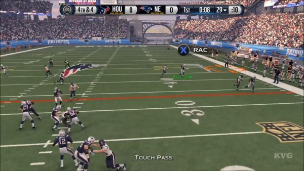 Screenshot: zeigt die Auswahl der Fang-Variante nach einem Touchpass.