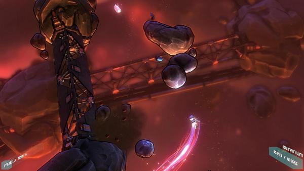 Screenshot: Astronaut fliegt auf Meteoriten zu