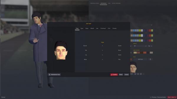 Screenshot: Ein grafischer Editor mit dem man das Aussehen der eigenen Spielfigur anpassen kann.
