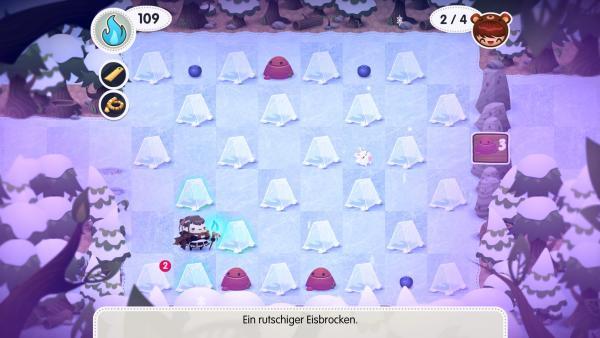 Ein vorgefertigtes Puzzle in einem Eisgebiet.