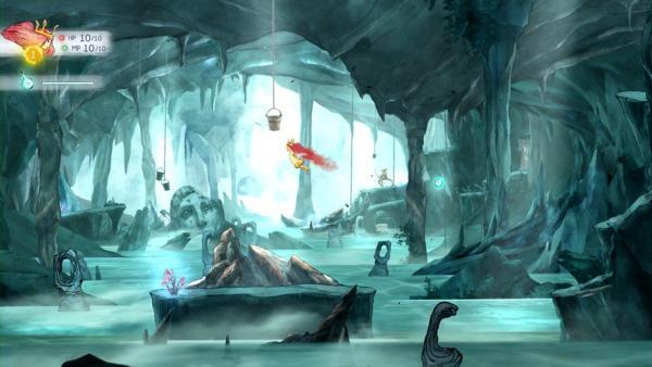 Aurora in einer Höhle